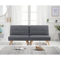 Ivy 3 Grey Linen 3 Seater Fold Down Sofa Bed