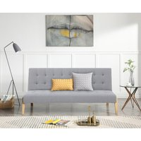 Jericho Grey Linen Sofa Bed