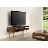 Product photograph showing Helsingborg Walnut Widescreen Tv Stand