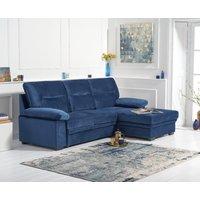 Josephine Blue Velvet Right Hand Facing Corner Sofa Bed