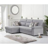 Josephine Grey Linen Left Hand Facing Corner Sofa Bed