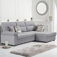Josephine Grey Linen Right Hand Facing Corner Sofa Bed