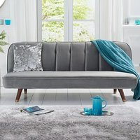 Julietta Sofa Bed in Grey Velvet