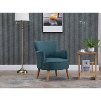 Product photograph showing Knightley Teal Armchair