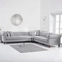 Limoges Grey Linen Corner Sofa
