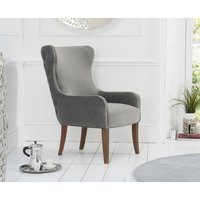 Read more about Linda grey velvet accent chair