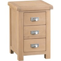 Read more about Rose oak large 3 drawer bedside table
