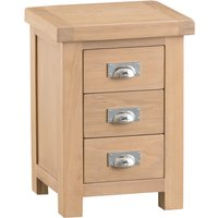 Read more about Rose oak 3 drawer bedside table