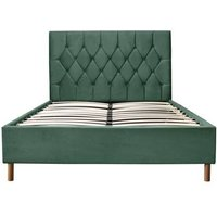 Product photograph showing Lox 120cm Small Double Ottoman Bed In Green