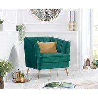 Product photograph showing Lucern Green Velvet Armchair