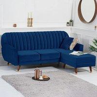 Lucia Reversible Sofa Bed in Blue Velvet