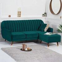 Lucia Reversible Sofa Bed in Green Velvet