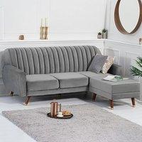 Lucia Reversible Sofa Bed in Grey Velvet