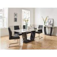Luciana 200cm Dining Table with Luciana Chairs - Grey, 6 Chairs