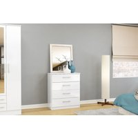 Product photograph showing Adalee 4 Drawer White Chest