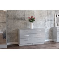 Product photograph showing Adalee Grey 6 Drawer Chest