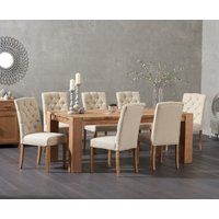 Madrid 200cm Solid Oak Dining Table with Claudia Chairs