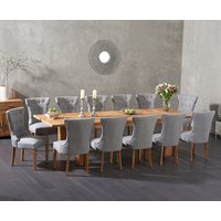 Madrid 200cm Extending Solid Oak Dining Table with Camille Fabric Chairs