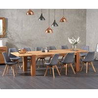 Madrid 200cm Oak Extending Dining Table with Duke Fabric Chairs