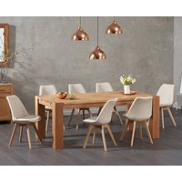 Madrid 200cm Oak Dining Table with Duke Fabric Chairs