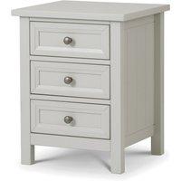 Maine 3 Drawer Bedside Dove Grey