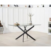 Product photograph showing Ex-display Mara 120cm Rectangular Glass Dining Table