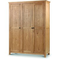 Product photograph showing Minnesota Oak 3 Door Wardrobe With Fitted Interior