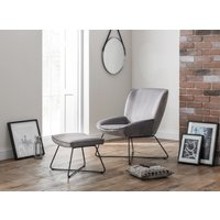 Read more about Milly grey velvet accent chair and stool