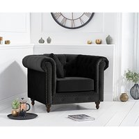 Ex-display Milano Chesterfield Black Velvet Armchair