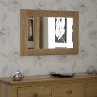 Product photograph showing Rohan Oak 900 X 600 Mirror