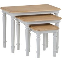 Read more about Holly nest of 3 oak and grey tables
