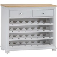 Read more about Holly oak and grey wine cabinet