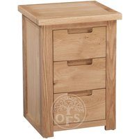 Read more about Melrose oak 3 drawer bedside