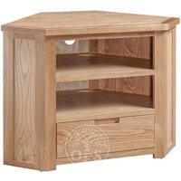 Read more about Melrose oak corner tv cabinet
