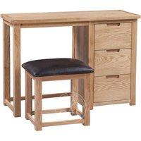 Product photograph showing Melrose Oak Dressing Table Set