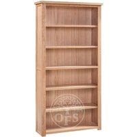 Product photograph showing Melrose Oak Large Bookcase