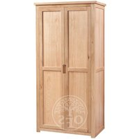 Product photograph showing Melrose Oak 2 Door Wardrobe
