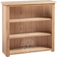 Product photograph showing Melrose Oak Small Bookcase