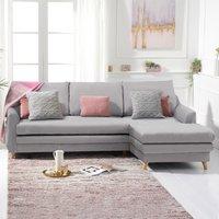 Monica Grey Linen Right Hand Facing Corner Sofa Bed