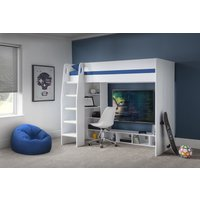 Nebulo Gaming Bed with Desk in White
