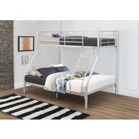 Product photograph showing Mississippi Silver Triple Sleeper Bunk Bed
