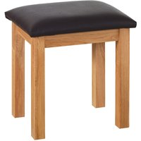 Product photograph showing Novel Oak Dressing Table Stool