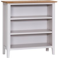 Product photograph showing Daniella Oak And Grey Small Wide Bookcase