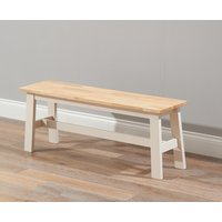 Chiltern Large Cream and Oak Bench