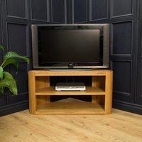 Product photograph showing Modern Oak Corner Tv Unit