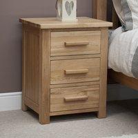 Rohan Oak Three-Drawer Bedside Cabinet