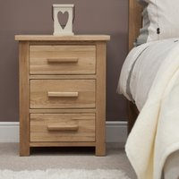 Read more about Rohan oak three-drawer bedside cabinet