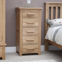 Read more about Rohan oak five-drawer narrow chest