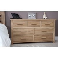 Product photograph showing Rohan Oak Seven-drawer Multi Chest Of Drawers