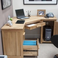 Product photograph showing Rohan Corner Computer Desk